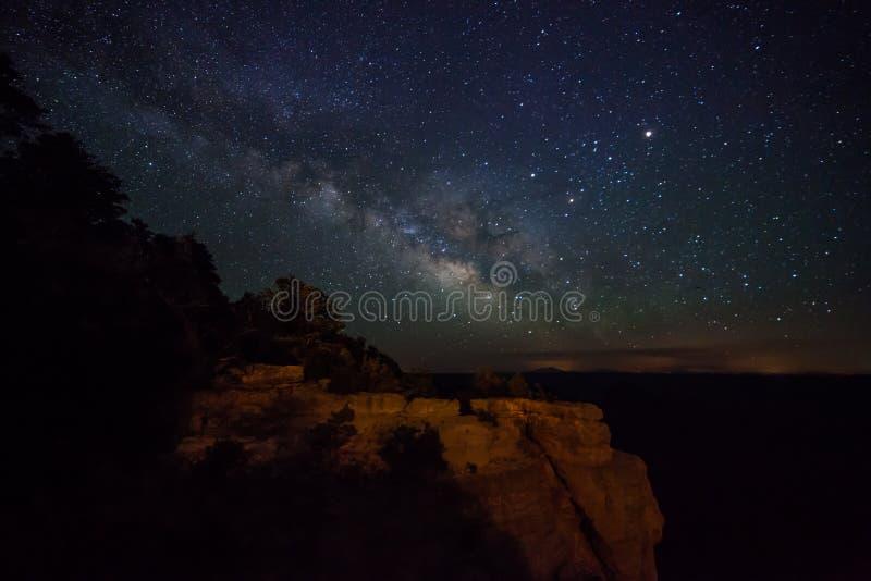 Via Lattea del Grand Canyon fotografie stock