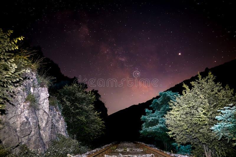 Via Lattea nel cielo immagini stock libere da diritti