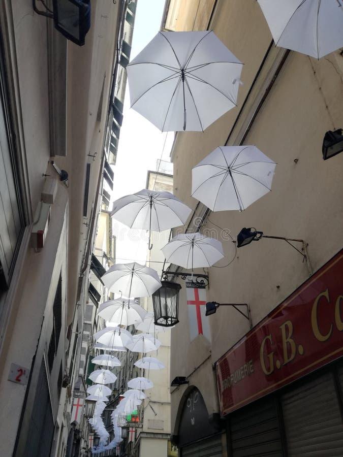 Via Luccoli - Genua stock foto's