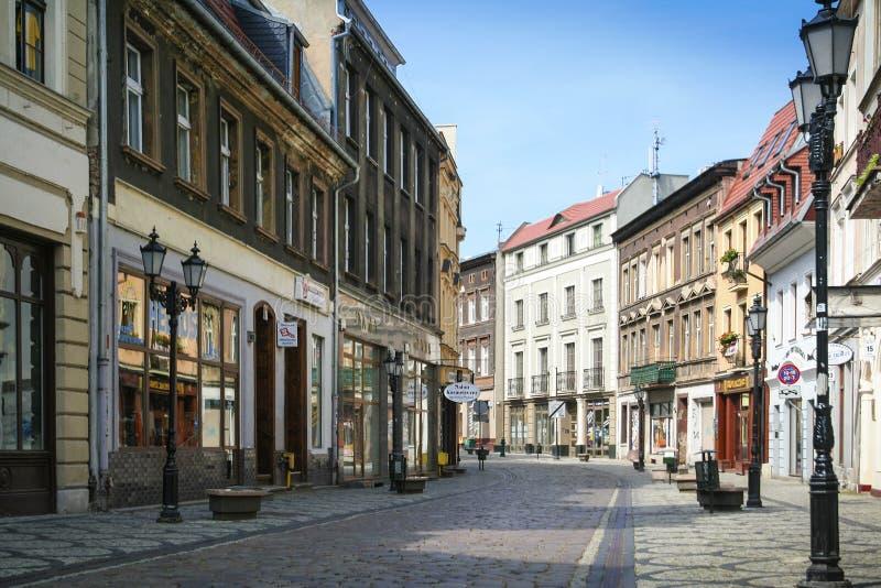 Via lunga di Bydgoszcz fotografia stock libera da diritti