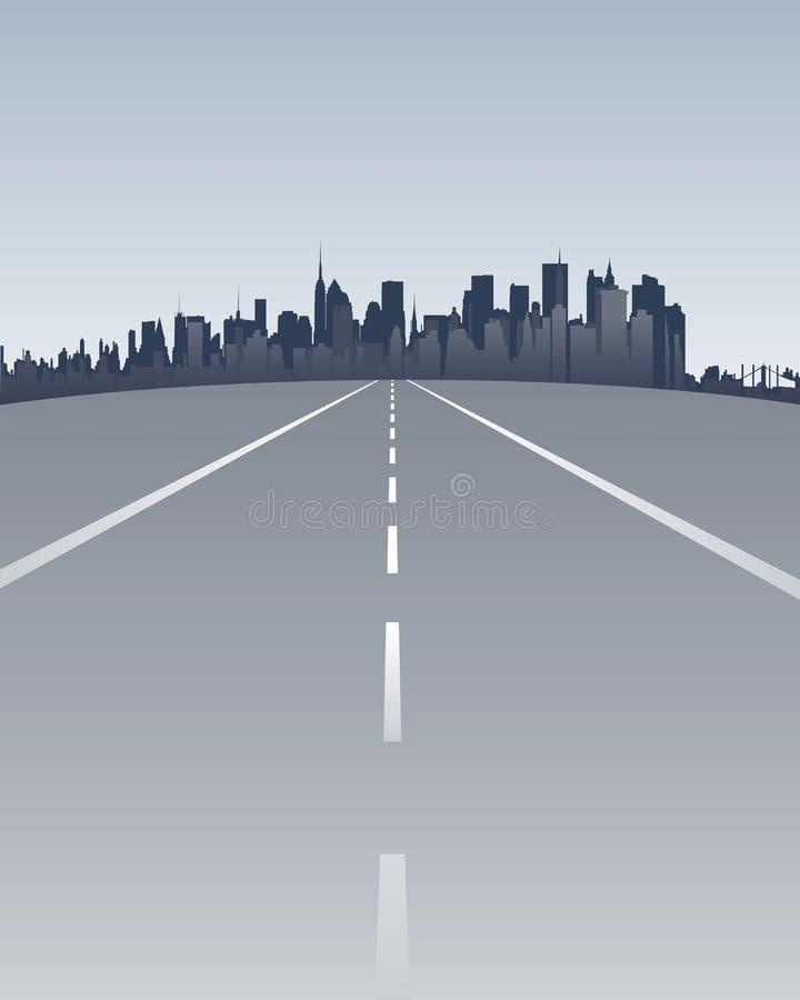 Via a Manhattan illustrazione di stock