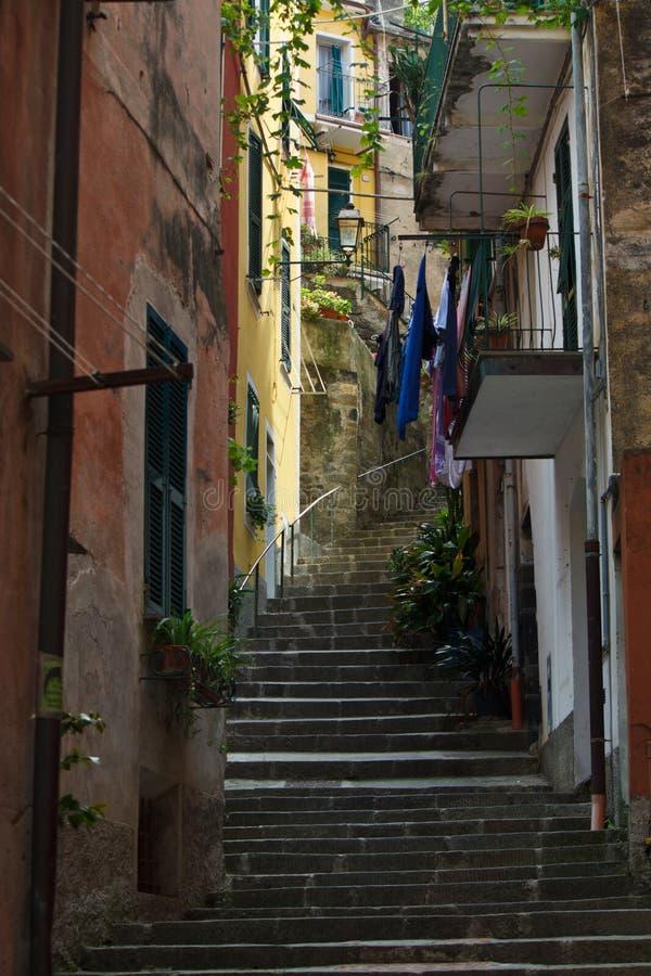 Via In Monterosso Immagini Stock Libere da Diritti