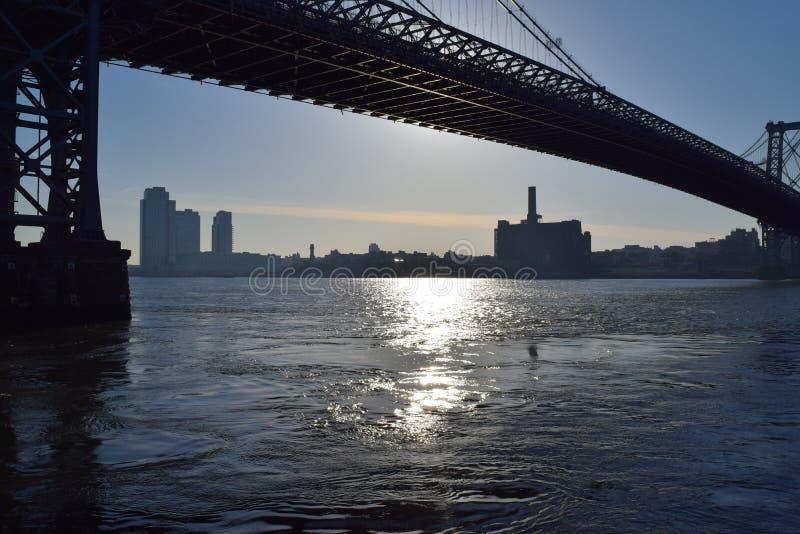 Via navegável de New York foto de stock