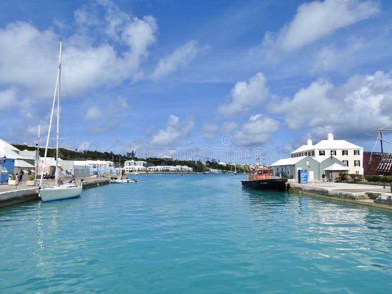 Via navegável em St George & em x27; s, Bermuda imagens de stock
