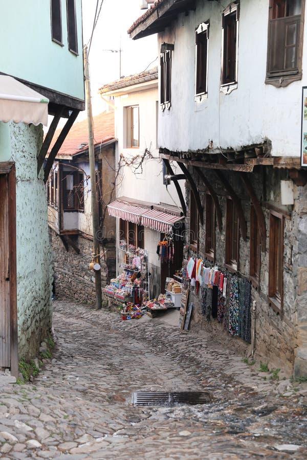 Via nel villaggio di Cumalikizik, Bursa, Turchia fotografia stock