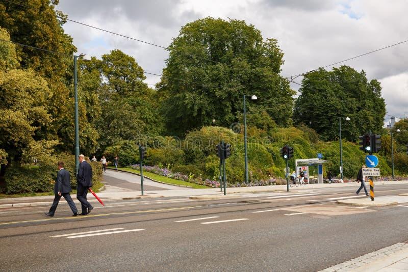 Via nella città di Oslo immagini stock