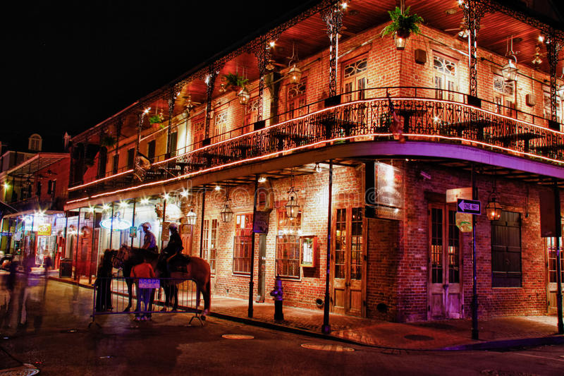 Via New Orleans - steakhouse del Bourbon dei Embers immagini stock