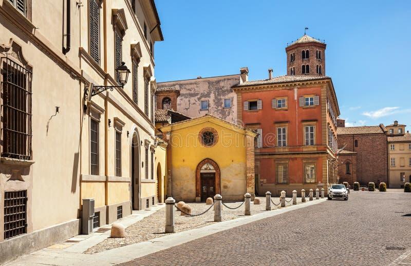 Via a Piacenza, Italia fotografie stock