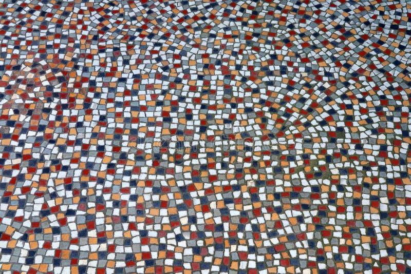 Via piastrellata d'annata della casa del mosaico fotografia stock