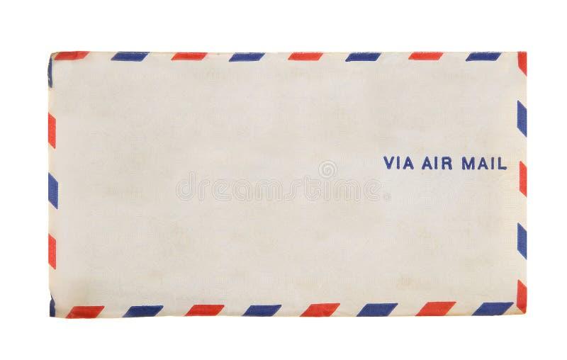 Via posta aerea d'annata della busta 1941 della posta aerea fotografia stock libera da diritti