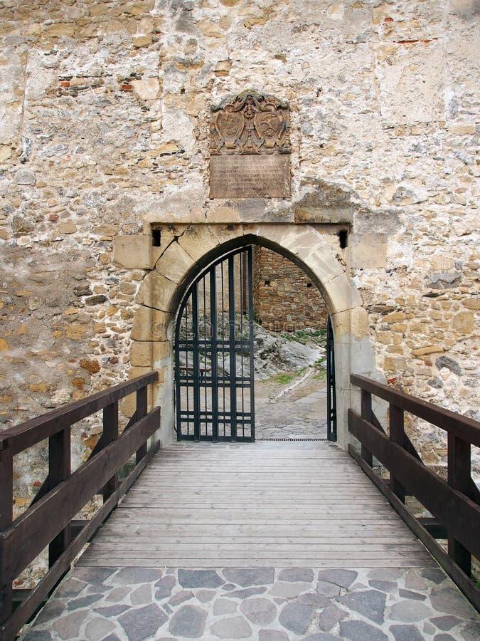 Via principal do castelo de Trencin, Eslováquia fotografia de stock royalty free