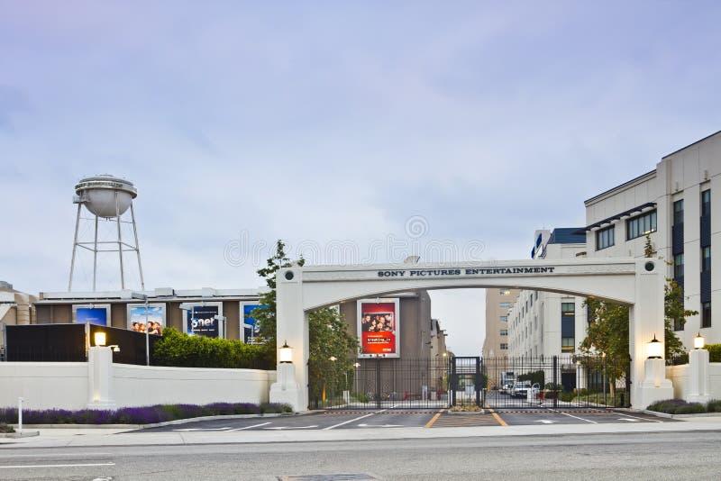 Via principal do estúdio de Sony Pictures Entertainment foto de stock