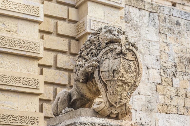 Via principal em Mdina, Malta fotografia de stock royalty free