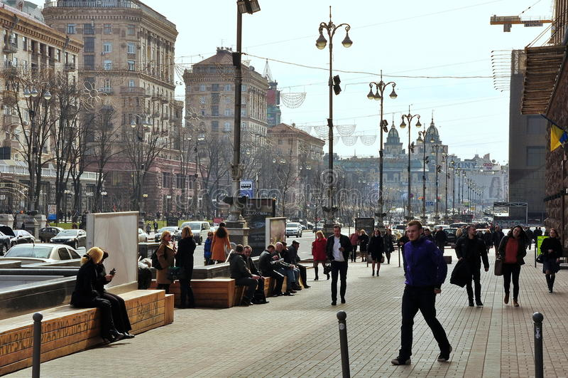 via principale di Kiev fotografia stock
