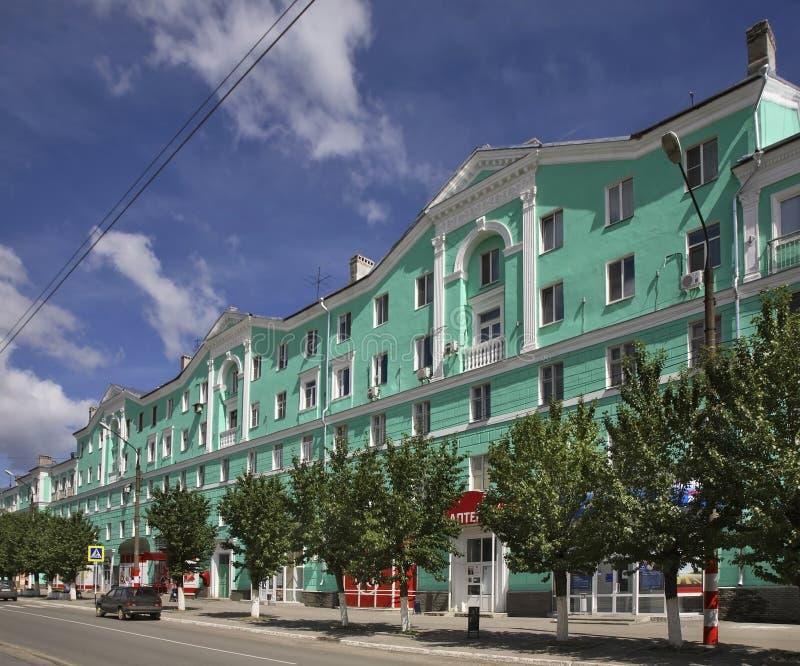 Via principale in Dzeržinsk La Russia fotografia stock