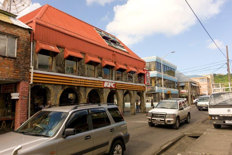 Via principale Kingstown, st vincent immagini stock libere da diritti