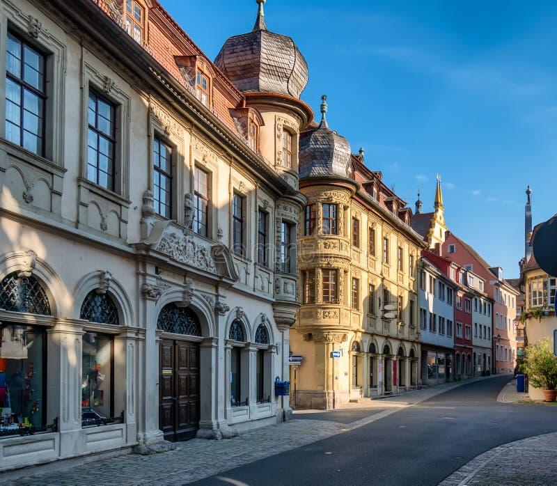 Via principale in Marktbreit, Germania immagine stock