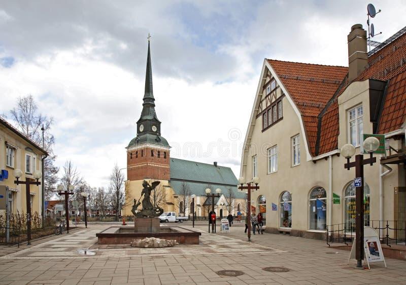 Via principale in Mora sweden fotografia stock