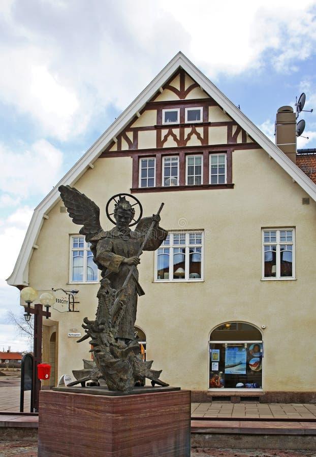 Via principale in Mora sweden immagini stock