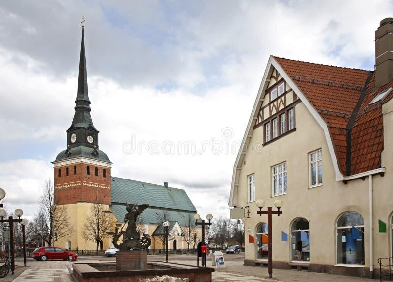 Via principale in Mora sweden fotografie stock libere da diritti
