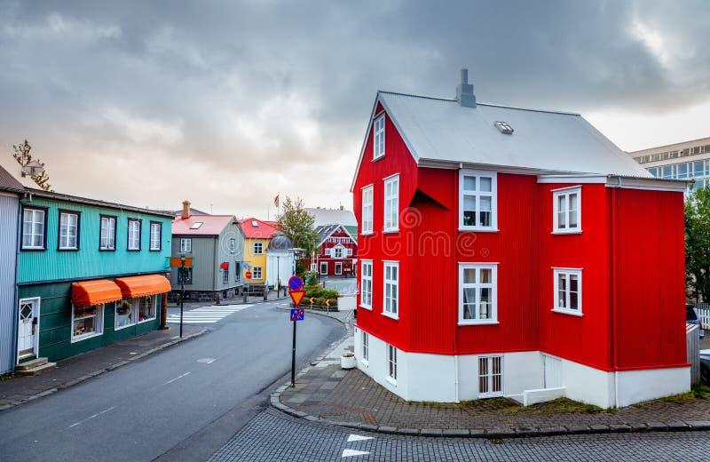 Via a Reykjavik immagine stock libera da diritti