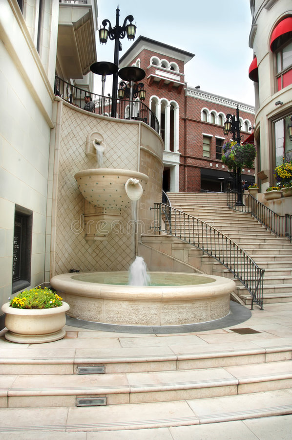 Via Rodeo Steps in Beverly Hills royalty free stock photography