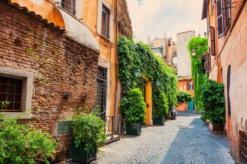 Via a Roma, Italia fotografia stock libera da diritti