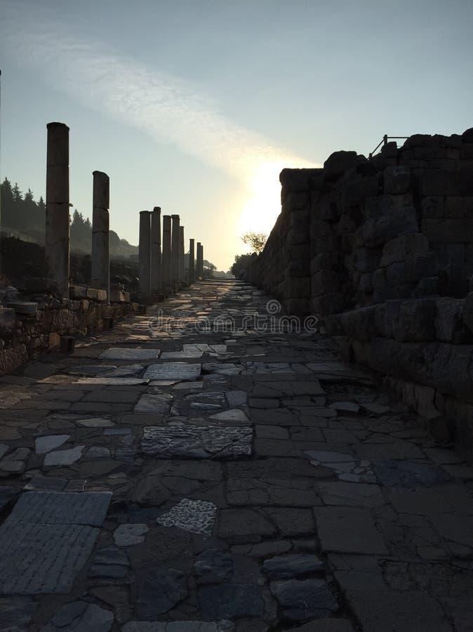 Via romana del Cobblestone immagine stock