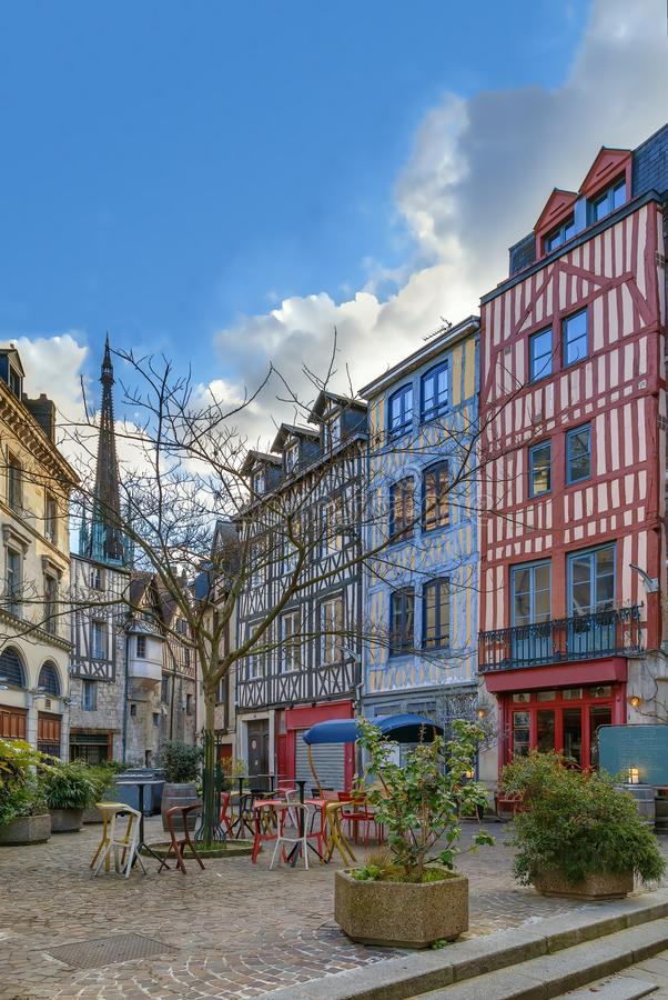 Via a Rouen, Francia fotografia stock libera da diritti