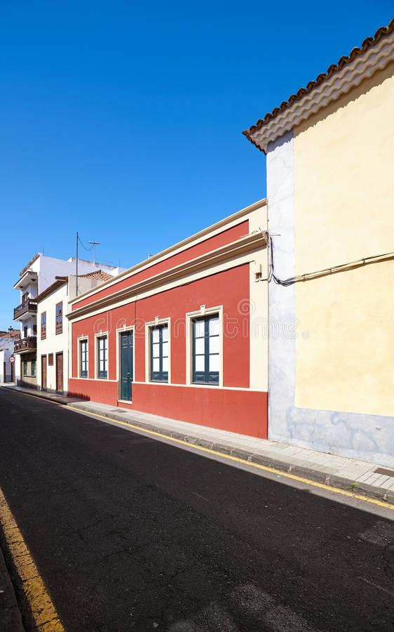 Via in San Cristobal de La Laguna, Tenerife, Spagna immagine stock libera da diritti