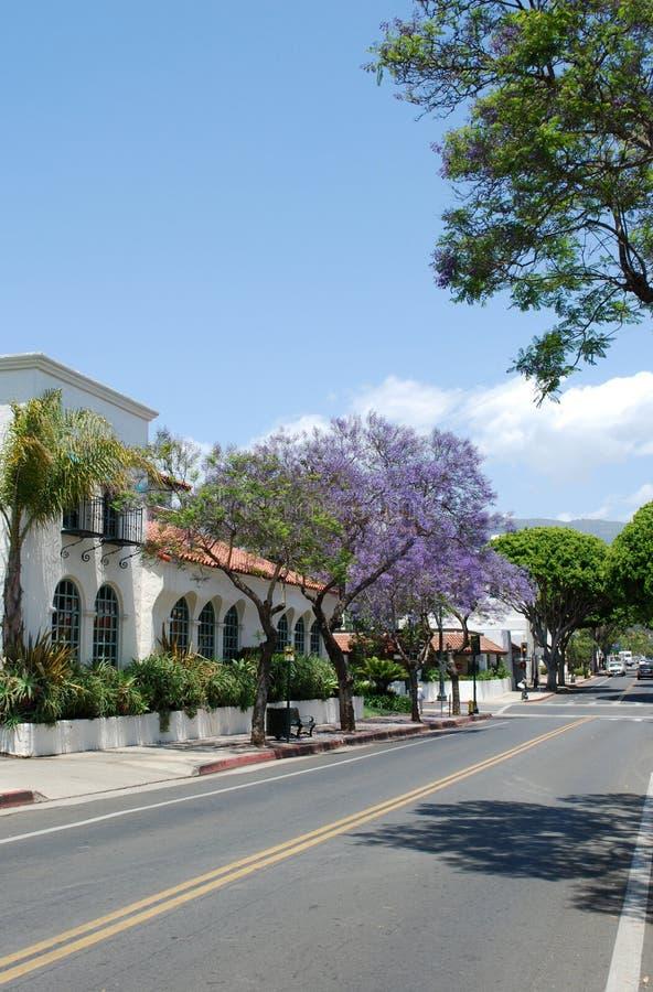 Via a Santa Barbara, S.U.A. fotografia stock