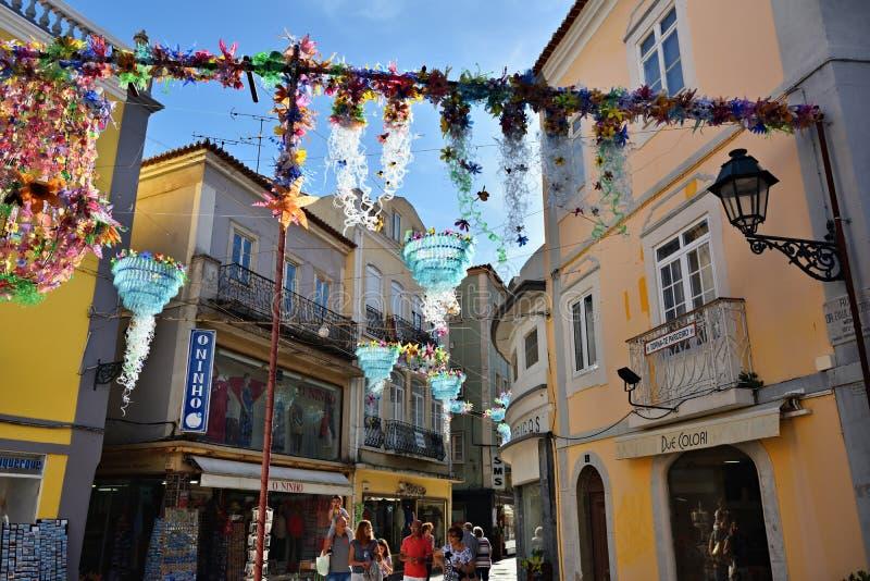 Via a Setubal, Portogallo fotografia stock libera da diritti