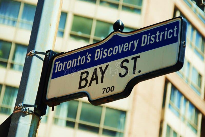 Via storica della baia a Toronto immagine stock libera da diritti