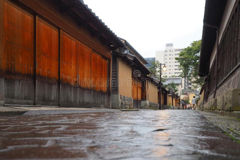 Via storica a Kanazawa, Giappone immagini stock