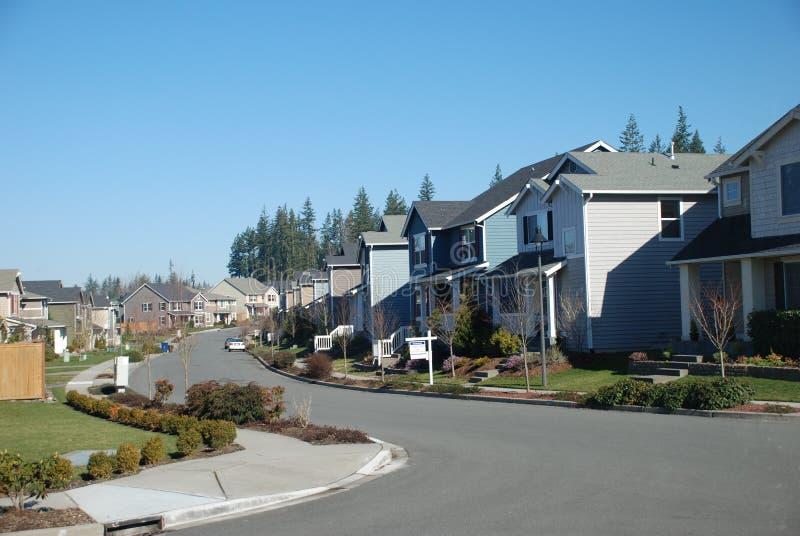 Via suburbana fotografia stock libera da diritti