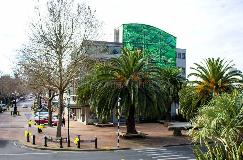 Via superiore di Trafalgar, Nelson, Nuova Zelanda immagini stock