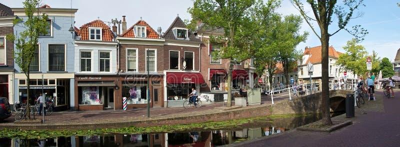 Via tipica a Delft fotografia stock libera da diritti