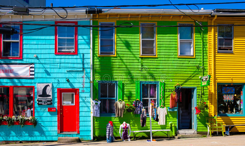 Via variopinta, Halifax, Nova Scotia, Canada fotografia stock libera da diritti