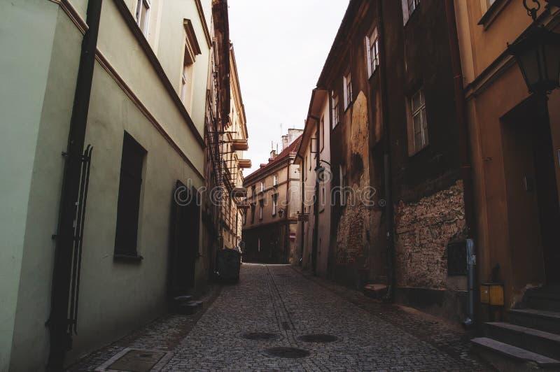 Via in vecchia città fotografia stock