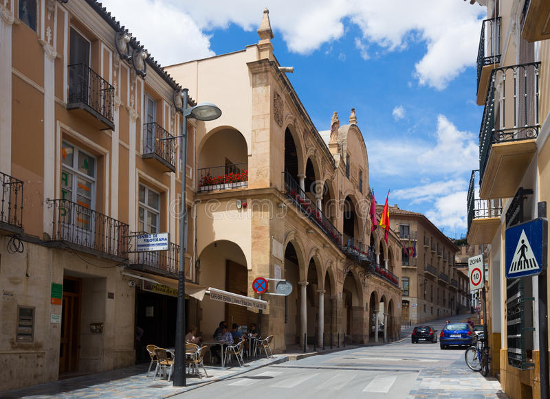 Via in vecchia città Lorca, Spagna fotografie stock