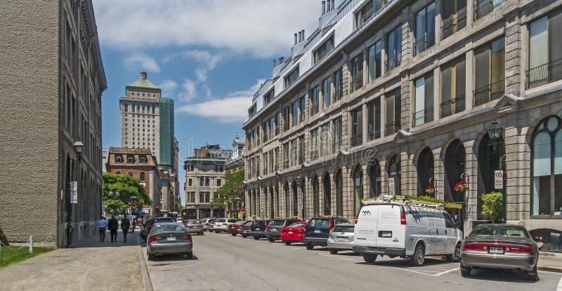 Via vecchia Montreal di St Pierre immagini stock