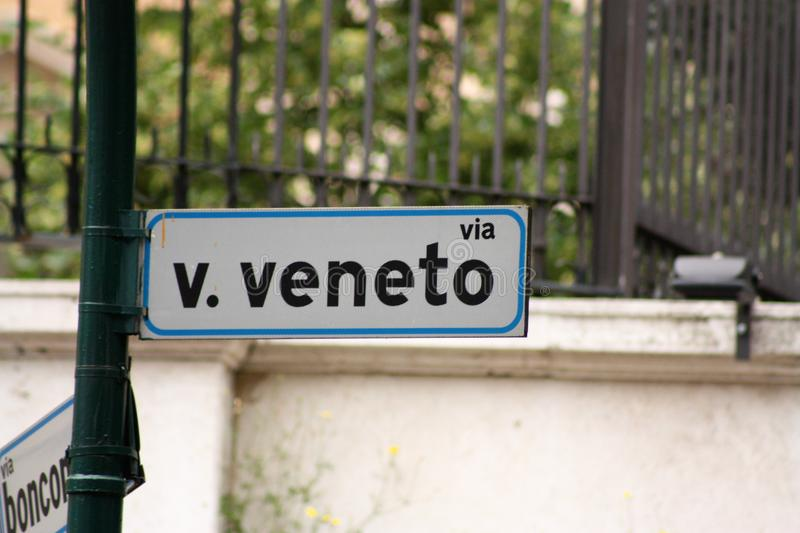 Via Veneto. Via Vittorio Veneto, simply called Via Veneto, is one of the most famous, elegant and expensive streets of Rome, Italy. Its name is a reference to royalty free stock photography