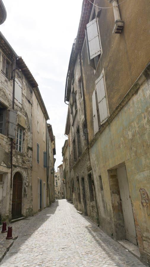 Via in Viviers medievale Francia fotografia stock libera da diritti