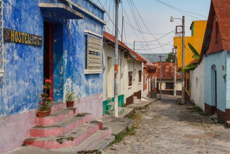 Via vuota del Flores fotografia stock libera da diritti