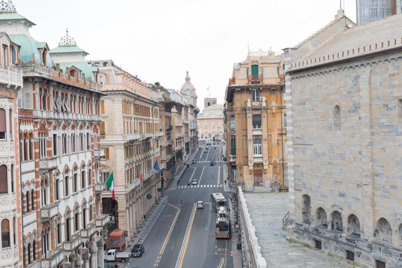Via XX Settembre , Genova στοκ φωτογραφία με δικαίωμα ελεύθερης χρήσης