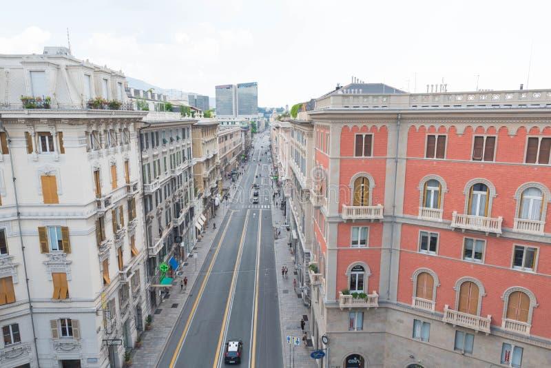 Via XX Settembre , Genova στοκ φωτογραφία