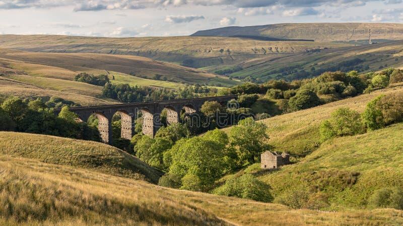 Viadotto capo dell'ammaccatura, North Yorkshire, Regno Unito immagini stock