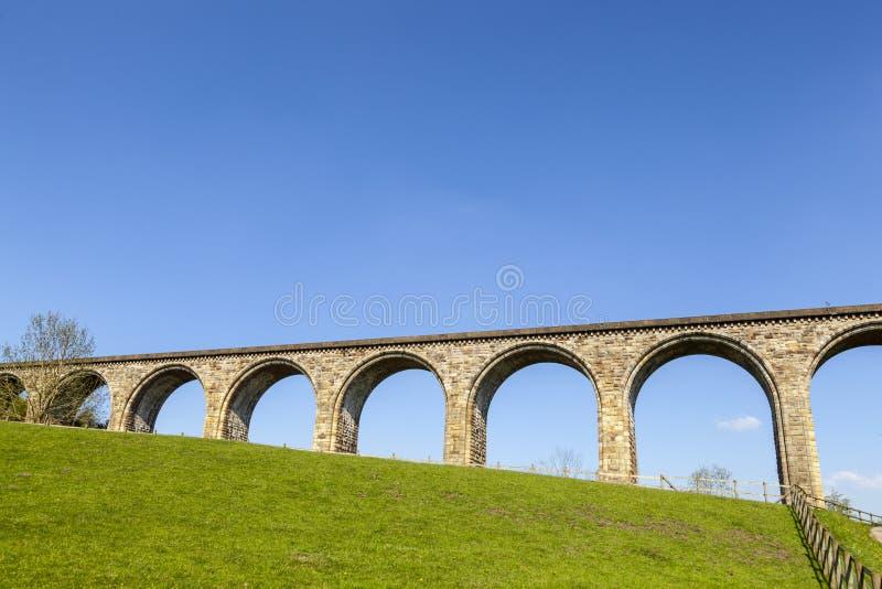 Viadotto della ferrovia del Mawr di Cefn immagini stock libere da diritti