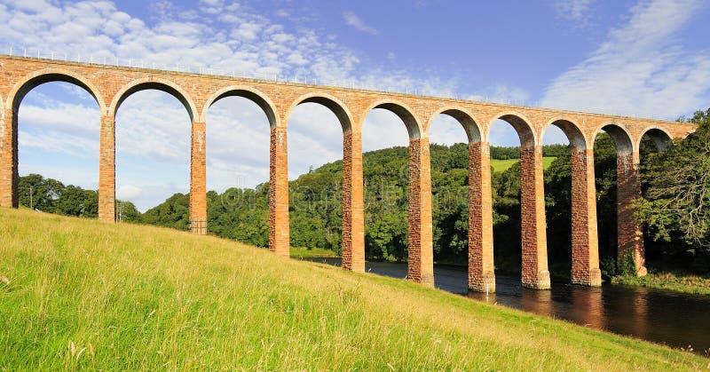 Viadotto di Leaderfoot, tweed del fiume, Scozia fotografie stock libere da diritti