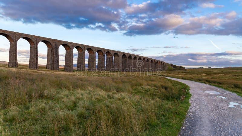 Viadotto di Ribblehead, North Yorkshire, Regno Unito immagini stock